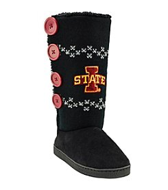 College Editions NCAA® Iowa StateCyclones Women's Knit Button Boot Slippers
