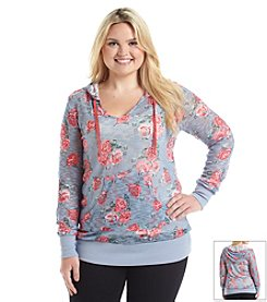 Chance or Fate® Plus Size Floral Hoodie