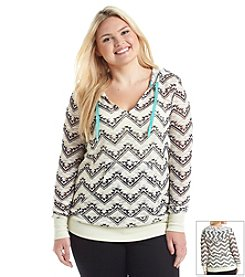 Chance or Fate® Plus Size Chevron Hoodie