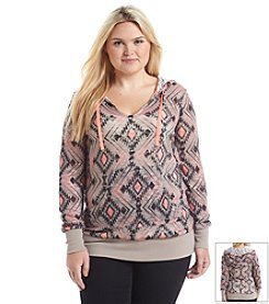 Chance or Fate® Plus Size Geo Print Hoodie