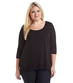 Living Doll® Plus Size Crochet Hem Top