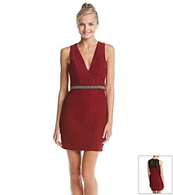 Trixxi® Deep V Sparkle Dress