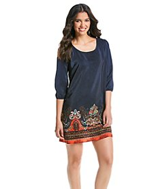 Be Bop Border Boho Shift Dress