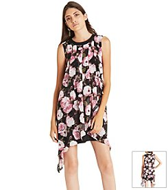 BCBGeneration™ Floral Sharkbite Dress