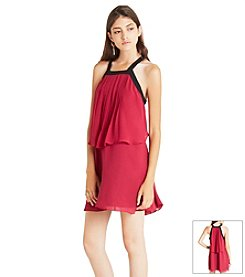 BCBGeneration™ Chiffon Popover Dress