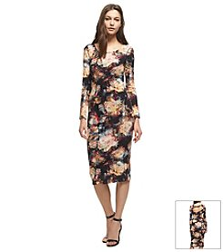 KIIND OF Printed Midi Dress