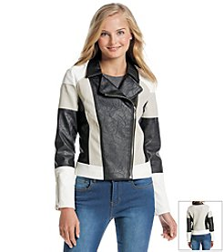 XOXO® Colorblock Moto Jacket