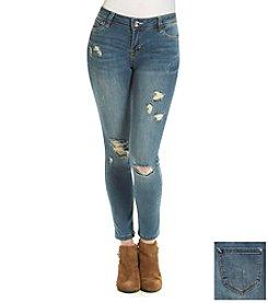 Kensie Jeans Destructed Skinny Jeans