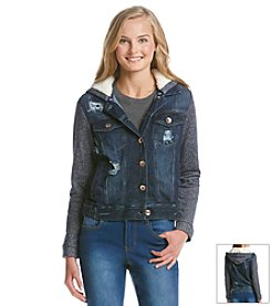 Kensie Jeans Denim Sherpa Jacket