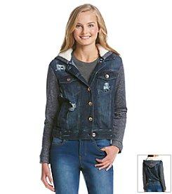 Kensie Jeans Denim Sherpa Jacket