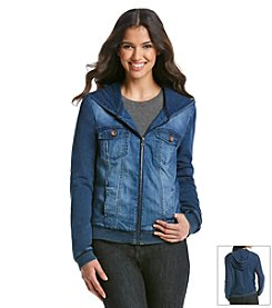 Kensie Jeans Knit Denim Jacket