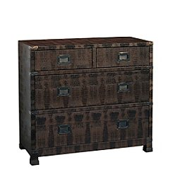 Pulaski Acel 4 Drawer Bronze Crocodile Texture Chest