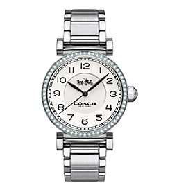 COACH MADISON FASHION STAINLESS STEEL BRACELET WATCH