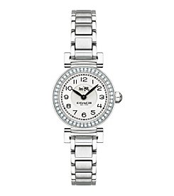 COACH MADISON FASHION SMALL STAINLESS STEEL BRACELET WATCH