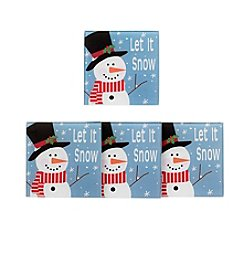LivingQuarters® Let It Snow Set Of Four Coasters