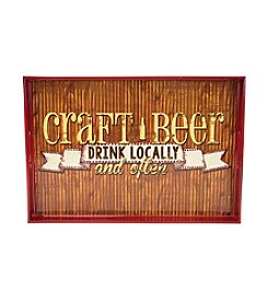 Boston Warehouse Craft Beer Rectangular Tray