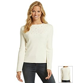 Nine West Jeans® Beaded Sweater