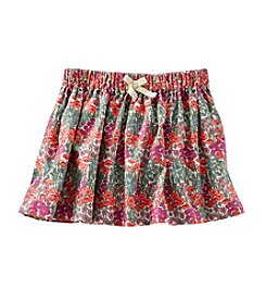 OshKosh B'Gosh® Girls' 4-6X Floral Corduroy Skirt