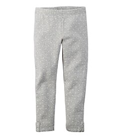 Carter's® Girls' 2T-4T Heart Print Fleece Leggings