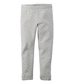 Carter's® Girls' 2T-4T Heart Print Fleece Leggings
