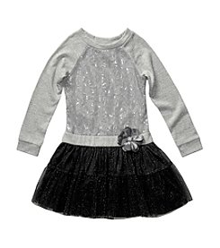 Sweet Heart Rose® Girls' 2T-6X Sweatshirt Tulle Dress