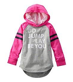 OshKosh B'Gosh® Girls' 2T-6X Hooded Sparkle Varsity Tunic