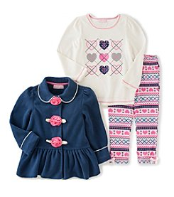 Kids Headquarters® Baby Girls' Argyle Hearts Jacket Set