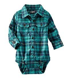 OshKosh B'Gosh® Baby Boys' 6-24M Plaid Flannel Bodysuit