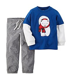 Carter's® Baby Boys 3-24M Two-Piece Positively Polar Bear Set