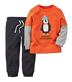 Carter's® Baby Boys 3-24M Perfect Penguin Gentleman Jogger Set