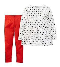 Carter's® Baby Girls' 3-24M Two-Piece Dog Top & Pant Set