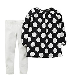 Carter's Baby Girls' 3-24M Two-Piece Dot Top & Pants Set