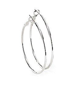 Marsala Stainless Steel Omega Hoop Earrings
