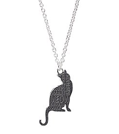 Marsala Silver-Plated Cat Graffiti Pendant