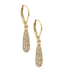 Anne Klein® Goldtone Crystal Drop Earrings