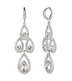 Givenchy® Silvertone Chandelier Earrings