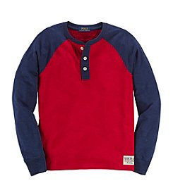 Ralph Lauren Childrenswear Boys' 8-20 Long Sleeve Raglan Henley