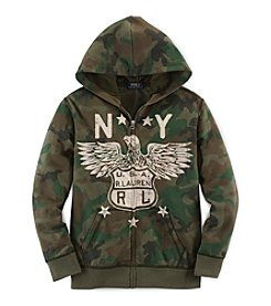 Ralph Lauren Childrenswear Boys' 8-20 Camo Full Zip Hoodie