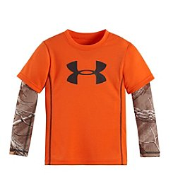 Under Armour® Boys' 2T-7 Big Logo Real Tree Slider