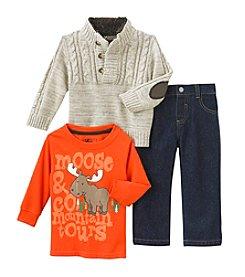 Nannette® Baby Boys' Moose Mountain Tours Sweater Set
