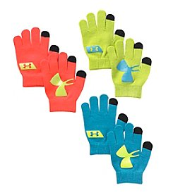 Under Armour® Boys' 3-Pack Neon Chillz Gloves