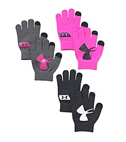 Under Armour® Girls' 3-Pack Neon Chillz Gloves