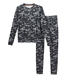 Climatesmart™ Boys' 4-12 Comfortech® Camo Two-Piece Base Layer Set