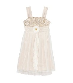 Sequin Hearts® Girls' 7-16 Sequin Bodice Dress