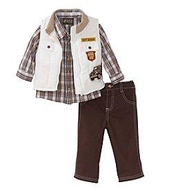 Nannette® Baby Boys' 12-24 Three-Piece Off Road Vest Set