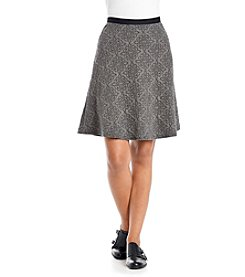 Spense® Patterned Sweater Skirt