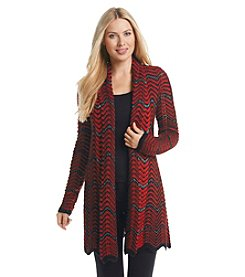Laura Ashley® Zig Zag Stripe Cardigan
