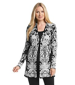 Laura Ashley® Placed Trellis Cardigan