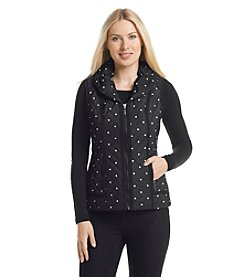 Laura Ashley® Polka Dot Puffer Vest