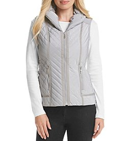 Laura Ashley® Solid Puffer Vest